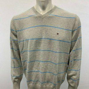 Tommy Hilfiger Men's Large V Neck Gray sweater